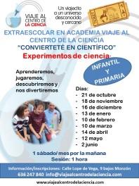 cartel talleres de ciencia academia 2017 2018